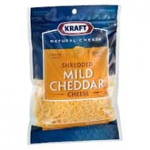 Shredded cheddar cheese 8oz