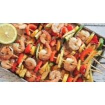 Shrimp kebab meal