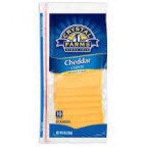 Cheddar cheese 8oz slices