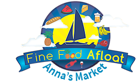 Anna's Market St Thomas VI Fine Food Afloat-online ordering of groceries and liquor for delivery in St Thomas and St John, USVI. We provide boat provisioning and grocery services
